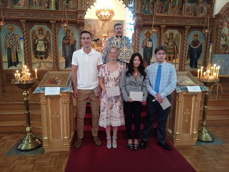 Our 2020 Graduates (L to R):  Michael Tebyrtse, Irena Stefankiv, Ani Kusak, Andriy Dzus-Debole. (Missing: Yaroslav Khalitov)